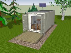 Home Design Exterior Cream Wall Color Shipping Container Cabin Feat Green Grass Landscape Marvelous Cabin Of Shipping Container Cabin Home Design Marvelous Cabin Of Shipping Container Cabin