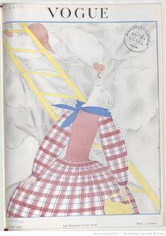 * Vogue (Paris) 15 MAI 1922 - Couverture dessinée par G Lepape