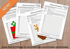 New Christmas Coordinates Worksheets