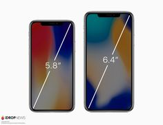 Here's What The Rumored 2018 iPhone X Plus With Bezel-Less Display Will Look Like Iphone Design, Display, Apple, Gallery, Bude, Tech News, Check, Floor Space, Apple Fruit