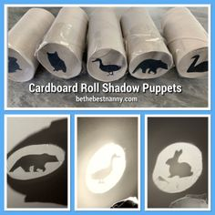 Creative Wednesdays Making shadow puppets is a quick and easy boredom buster. Although, I have always found it a little tricky to use my hands to make shadow puppets, this is an easier way to make … Toddler Learning Activities, Fun Activities For Kids, Infant Activities, Preschool Crafts, Preschool Activities, Kids Learning, Toddler Fun, Toddler Crafts, Cardboard Crafts Kids