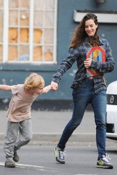 Liv Tyler and her energetic son Milo William Langdon (b ...