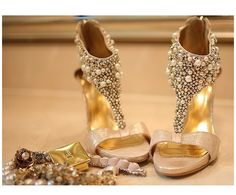 gold wedding wedges - Google Search