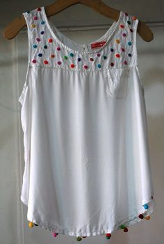 Embroider summer clothes 2 ( more complicated) - Kleidung Sewing Clothes, Diy Clothes, Clothes For Women, Abaya Mode, Diy Fashion, Fashion Dresses, Baby Frocks Designs, Mode Chic, Frock Design
