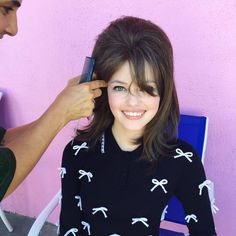 Super cute BTS photo of Mackenzie from the Young Hollywood Teen Vogue shoot!     -- via Facebook