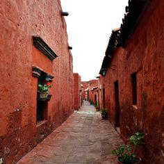 Arequipa Peru - Latin America - Street - Red - Travel