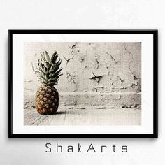 Pineapple Print Art Wall Print Pineapple Cute by ShakArts on Etsy