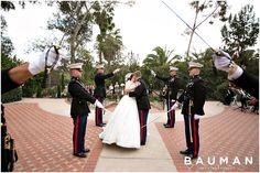 Sword Arch Salute exit - so epic!   The Prado at Balboa Park Wedding, Photography by Bauman Photographers  View More: http://baumanphotographers.com/blog/weddings/2015/02/the-prado-at-balboa-park-wedding-san-diego-ca/