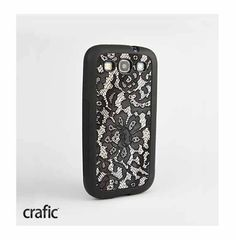 Black Lace Samsung Galaxy S3 Case by CRAFIC on Etsy, $19.99