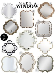 Quatrefoil Mirrors: My Third Row of Windows - Kelley Nan Kitchen Island Decor, Mirror Painting, Gold Interior, Moroccan Decor, Quatrefoil, Living Room Inspiration, Bohemian Decor, Decoration, Home Deco