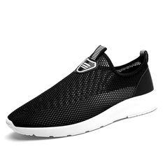 FABRECANDY Unisex Summer Breathable Mesh Men Shoes Lightweight Men Flats Fashion Casual Male Shoes Brand Designer Men Loafers