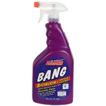 The BEST bathroom cleaner I've ever used and it's only $1 at the Dollar Tree!  It gets up all the hairspray and gunk from your countertops!