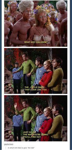 Star Trek TOS: Captain Kirk explains where babies come from Archie Comics, Star Trek Tos, Star Wars, Fandoms, David Soul, David Kirk, Tv, Funny Memes, Hilarious