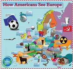 How Americans see Europe [Infographic] - Funny... | #Infographic #Humour
