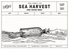 Fresh seafood 404 error page - 404 Error Page - Awwwards Website Design Inspiration, Graphic Design Inspiration, Print Layout, Layout Design, Composition, Presentation Layout, App Ui Design, Fresh Seafood, Retro Design