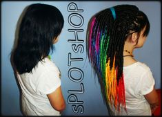 rainbow synthetic dreadlocks - My FaceBook -> http://www.facebook.com/pages/SplotShop/121850011217678 - Fotolog