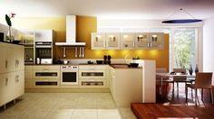 küchen einrichten naturfarben schöne beleuchtung