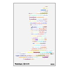 London Text Design II Wall Decal Cowboy Boot