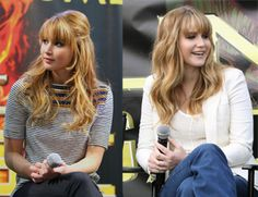 Jennifer Lawrence Hair I love her bangs! Don't worry Deed! I'm not cutting mine...just sayin!