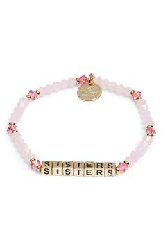 Little Words Project Sisters Beaded Stretch Bracelet Cute Bracelets, Handmade Bracelets, Fashion Bracelets, Handcrafted Jewelry, Beaded Bracelets, Diy Jewelry, Jewelry Gifts, Beaded Jewelry, Jewelry Ideas