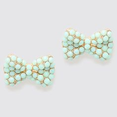 Mintylicious Bow Earrings idk if Mel would ever actually wear them but they made me think if her