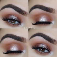 14 Shimmer Eye Makeup Ideas for Stunning Eyes - - 14 Shimmer Eye Makeup Ideas for Stunning Eyes Beauty Makeup Hacks Ideas Wedding Makeup Looks for Women Makeup Tips Prom Makeup ideas Cut Natural Makeu. Simple Prom Makeup, Prom Eye Makeup, Shimmer Eye Makeup, Blue Eye Makeup, Eye Makeup Tips, Makeup Tricks, Makeup Products, Beauty Makeup, Clown Makeup