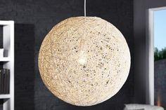 """Stylische Hängeleuchte COCOON XL in weiss 60cm Lampe - Einzigartige Hängeleuchte """"Cocoon"""" - eine Kugel bestehend aus Manilahanf (Abaca)einem Geflecht das in Ostasien häufig vorkommt. Speziell veredelt"""