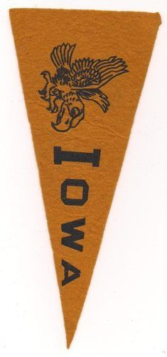 iowa hawkey vintage pennant - Google Search