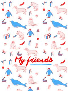 My friends par Marie Bretin . mariebretin.tumblr.com