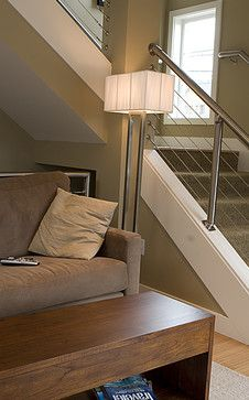 steel and wire stair banister ideas Design Ideas, Pictures, Remodel and Decor – Top Trend – Decor – Life Style Indoor Stair Railing, Steel Stair Railing, Stair Railing Design, Staircase Railings, Banisters, Banister Ideas, Staircase Ideas, Staircases, Cable Railing