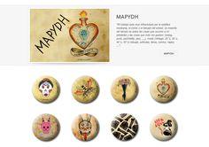 Colección de chapas que MAPYDH expuso en la primera convocatoria de ARTtoGo organizada por PinPonGo