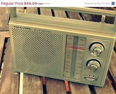 SALE Vintage Transistor Radio Realistic Brand by rustbelttreasures,