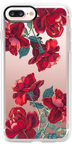 Casetify iPhone 7 Plus Classic Grip Case - Red Roses (Transparent) by Heart of Hearts Designs #Casetify