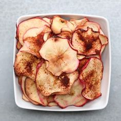 Baked Fruit & Veggie Chips 4 Ways by Tasty Vegetarian Snacks, Healthy Snacks, Healthy Recipes, Whole30 Recipes, Healthy Tips, Homemade Chips, Veggie Chips, Zucchini Chips, Apple Chips