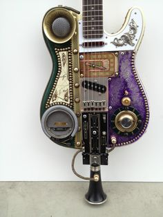 Steampunk Guitar Custom Made Tele Radio Caster Squire by Fender