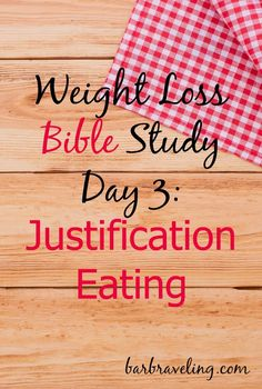 """Do you ever tell yourself, """"There's a good reason to break my boundaries?"""" If so, this weight loss Bible study will help!"""