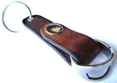 Customizable Leather Key Chain with Ring Bottle by seattleleather, $19.95