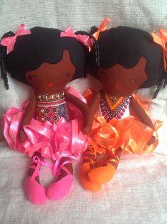 Angelina ballerina black rag soft fabric doll