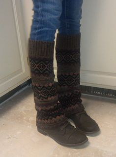 Upcycling an Old Sweater in New Leg Warmers