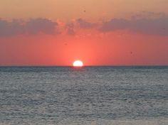 Sunset on the beach at Siesta Key