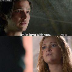 "#The100 2x08 ""Spacewalker"" - Finn and Clarke"