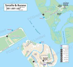 Map of Burano & Torcello produced by PCGraphics. See more of our maps on our website  http://www.pcgraphics.uk.com  or read our blog  http://www.pcgraphics.uk.com/blog/