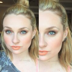Makeup of the Day: PEACH by ashm123. Browse our real-girl gallery #TheBeautyBoard on Sephora.com & upload your own look for the chance to be featured here! #Sephora #MOTD