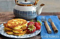 Placki z jabłkami z kaszy jaglanej na oleju rzepakowym - niebo na talerzu Family Meals, Pancakes, French Toast, Recipies, Good Food, Appetizers, Food And Drink, Snacks, Chocolate