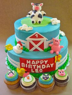 Henry's first birthday cake?  Gives me one month to master fondant and/or gum paste.  I can do it!