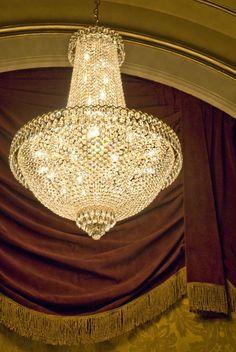 The historic chandelier
