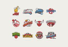 Un bien bel hommage que nous a réalisé «Vanila Barcelona Studio», une très belle série de logotypes mélangeant les équipes de NBA avec les Dessins animés que nous aimons des années 80 et 90, look !