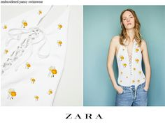 ZARA_poppy embroidered swimsuit