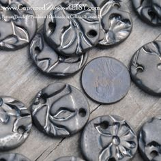 Hey, I found this really awesome Etsy listing at https://www.etsy.com/listing/158287318/5-round-textured-pottery-beads-or-links