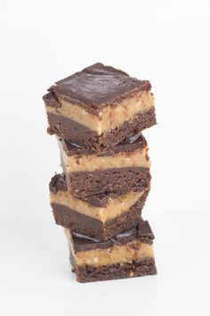 Best Ever Raw Caramel Brownie Slice